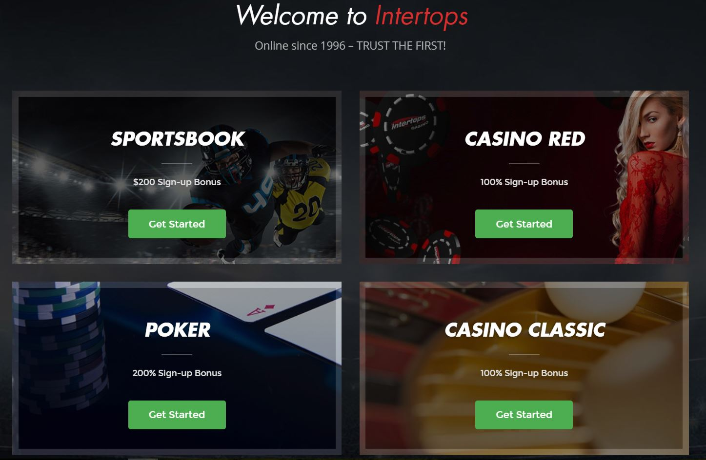 intertops home page